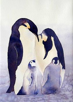 Penguin Family by Laurel Best