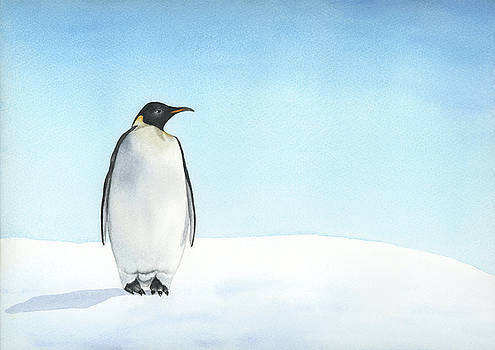 Penguin watercolor by Taylan Apukovska