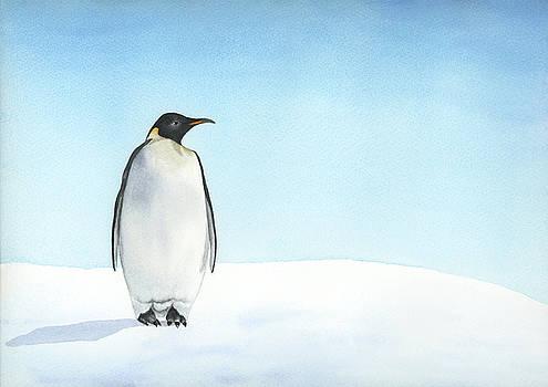 Penguin watercolor by Zapista