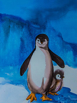 Chinstrap Penguins by Vickie Myers