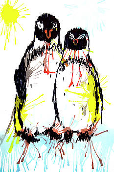 Penguins - best friends by ZileArt