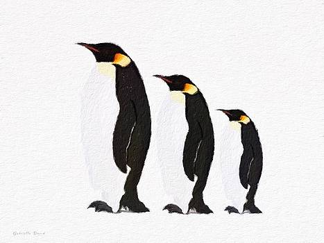Penguins Family  by Gabriella Weninger - David