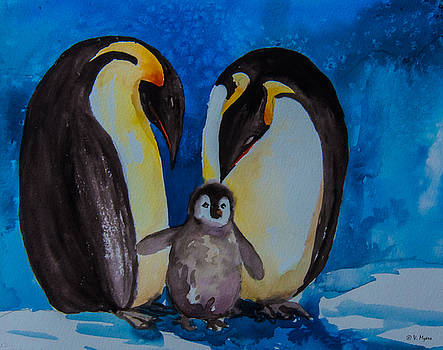 Royal Penguins Parents  by Vickie Myers
