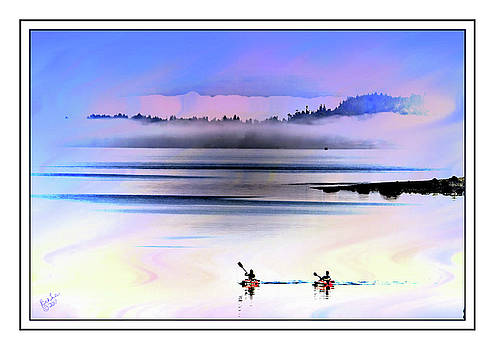 Penn Cove Kayakers by Rick Lawler