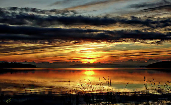 Penn Cove Sunrise by Rick Lawler