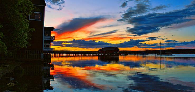 Penn Cove Sunset by Rick Lawler