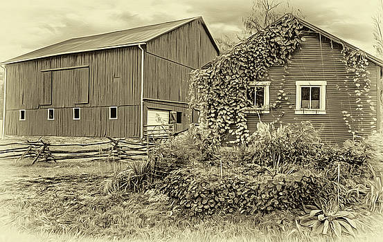Steve Harrington - Pennsylvania Barn 3- Paint - Sepia