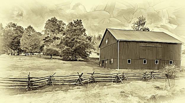 Steve Harrington - Pennsylvania Barn - Paint 2 - Sepia