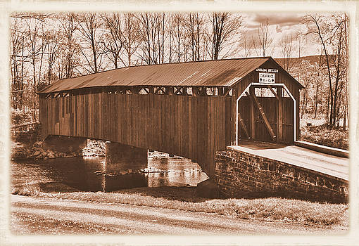 Pennsylvania Country Roads - Enslow Covered Bridge Over Sherman Creek No. 7BS-Alt - Perry County by Michael Mazaika