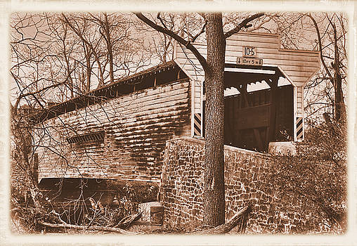 Pennsylvania Country Roads - Kennedy Covered Bridge Over French Creek No. 1S - Chester County by Michael Mazaika