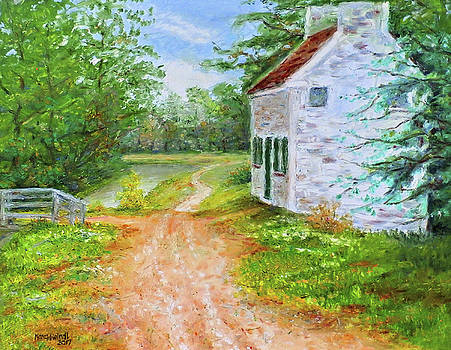 Pennyfield Lockhouse and Towpath, C and O Canal by Nancy Heindl