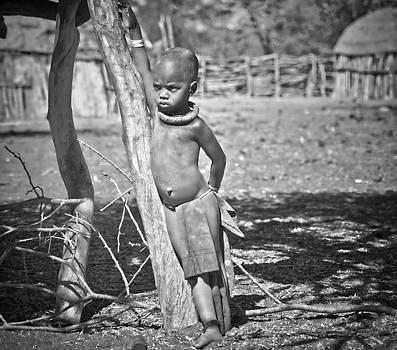 Pensive Himba boy by Sandy Schepis