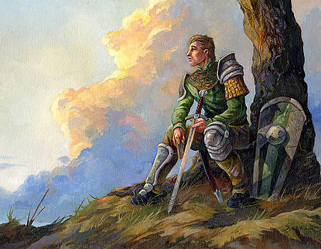 Pensive Knight by Storn Cook