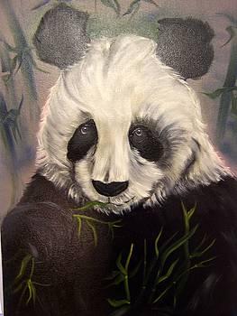 Pensive Panda by Lisa Rodriguez