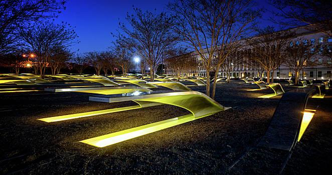 Pentagon 9/11 Memorial By Night by Ryan Wyckoff