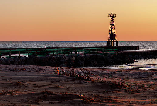 Pentwater Light by Fran Riley