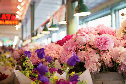 Peonies at Pike Place Market by Stephanie McDowell