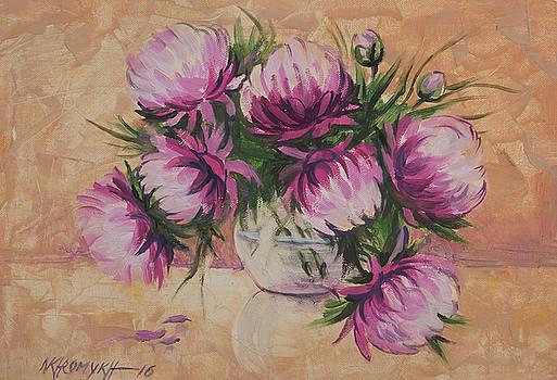 Peonies In A Vase-1 by Khromykh Natalia