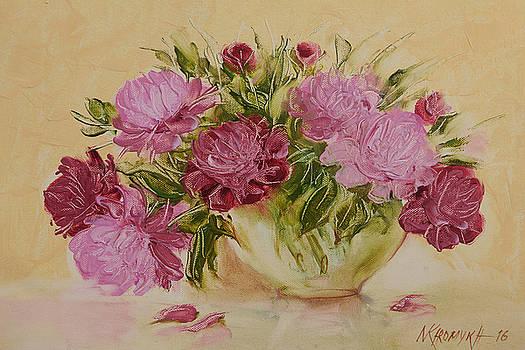 Peonies In A Vase by Khromykh Natalia