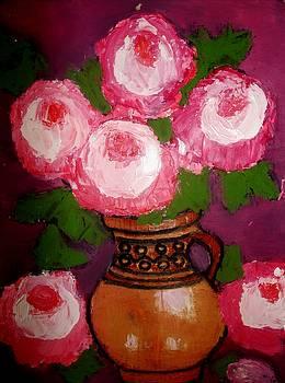 Peonies in vase by Elena Buftea