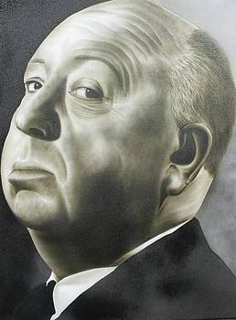 People - Alfred Hitchcock by Shawn Palek