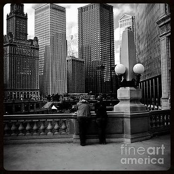 People and Skyscrapers - Square by Frank J Casella