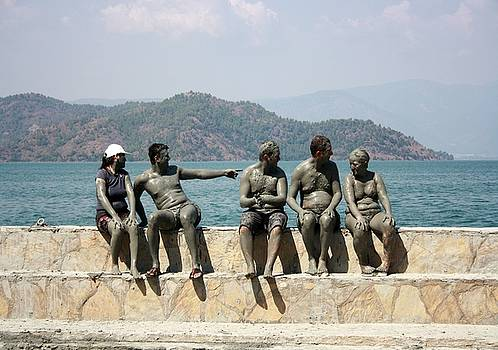 Tracey Harrington-Simpson - People Taking A Mudbath  Sultaniye Turkey