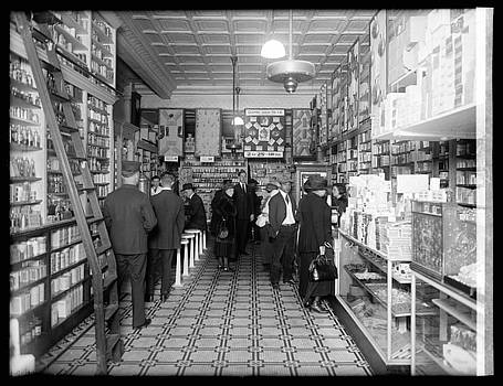 Peoples Drug Store, interior, Washington, D.C. 1920 by Vintage Printery