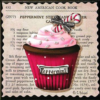 Peppermint Stick Christmas Cupcake by Catherine Holman