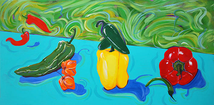 Peppers Picante by Marcie Ann Long