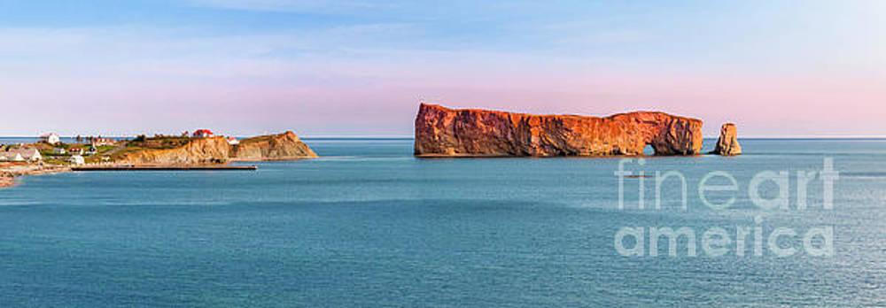 Perce Rock panorama at sunset by Elena Elisseeva