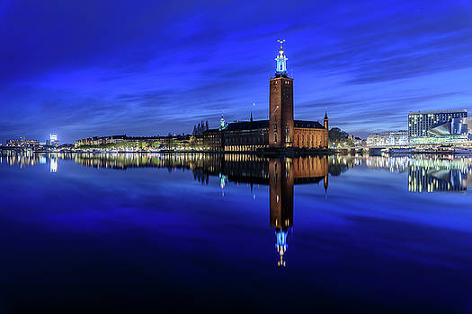 Dejan Kostic - Perfect Stockholm City Hall Blue Hour Reflection