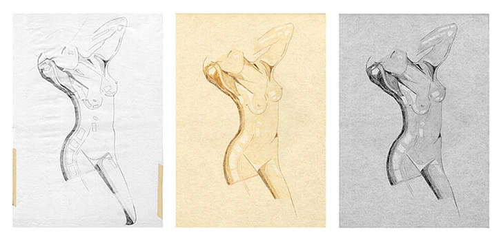 David Hargreaves - Perfume of Venus - Triptych - Homage Rodin