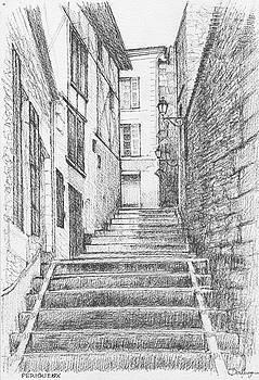 Perigueux Stairway by Dai Wynn