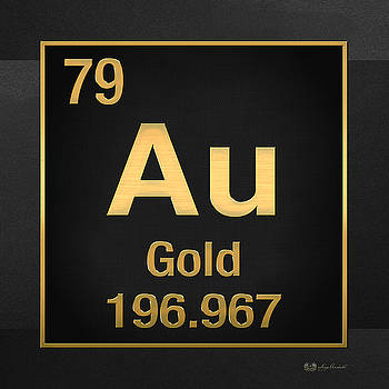 Serge Averbukh - Periodic Table - Gold on Black