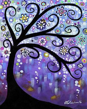 Periwinkle Tree by Elena Feliciano