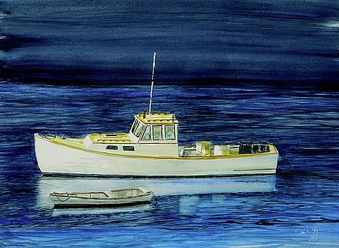 Perkins Cove Lobster Boat and Skiff by Paul Gaj
