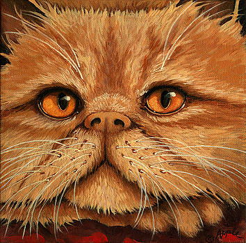 Persian Cat - painting by Linda Apple