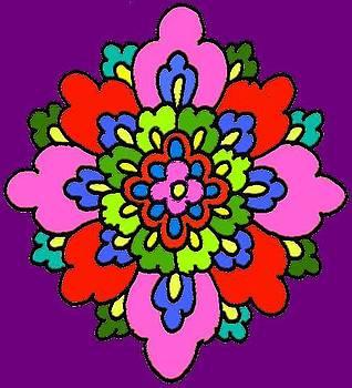 Persian Flower Design by Mehdi Mehrvarz