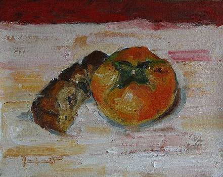 Persimmon and Cake by Owen Hunt