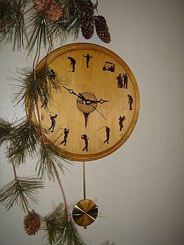 Personalized Golfer's Clock by Dakota Sage