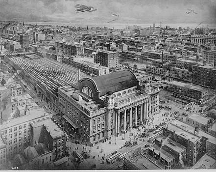 Chicago and North Western Historical Society - Perspective Drawing of Chicago Passenger Terminal