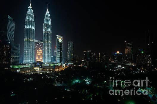 Petronas Towers at Night by Selim Aydin