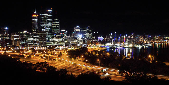 Perth By Night by Paki O'Meara
