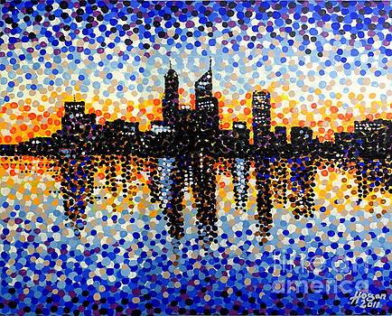 Alan Hogan - Perth City Sunrise