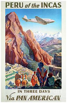 Peru Incas Vintage Travel Poster Restored by Carsten Reisinger