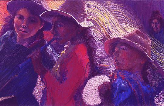 Peruvian Musicians by Ellen Dreibelbis