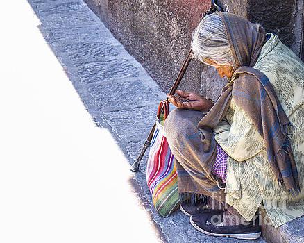 Woman in Doorway - San Miguel de Allende by Amy Fearn