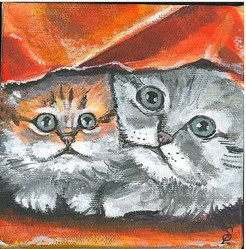 Pet Portraits-Two Kitties by Sarah Lowe