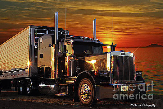 Peterbilt into the Sunset by Randy Harris